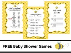 free bee themed baby shower games