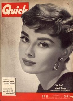 Audrey Hepburn - Quick Magazine Cover [West Germany] (23 May 1954)