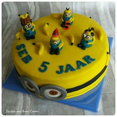 #birthday #cake #verjaardag #minions