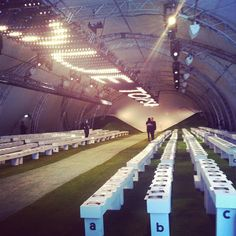 Still can't get over how amazing the #Topshop Showspace was for #SS14! The grass is greener at Topshop Unique.... #LFW #fashion #style #london
