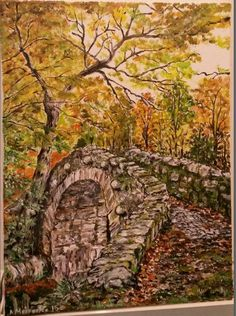 Foleys Bridge in Irland Acryl auf Leinwand