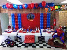 32 Ideias de Decoração Festa Infantil Homem-Aranha #homemaranha #festainfantil Spiderman, Dessert Table Backdrop, Backdrops, Birthday, Party, 1, Cheap Party Ideas, Animal Decor, Spider Man Birthday