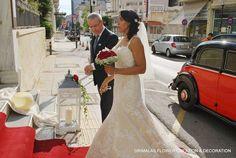 στολισμος γαμου με κοκκινα τριανταφυλλα