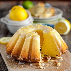 Fluffy lemon cake - Recipes with photos Fluffy Lemon Cake Recipe, Sweet Recipes, Cake Recipes, Good Food, Yummy Food, Can I Eat, Cookie Desserts, Food Cakes, International Recipes