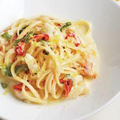 Mint Recipes, Crab Recipes, Orange Recipes, Veggie Recipes, Dinner Recipes, Cooking Recipes, Veggie Food, Cooking Tips, Crab Pasta