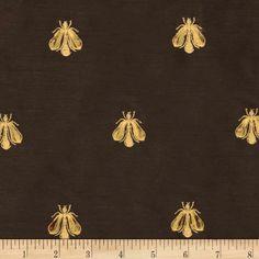 Tempo Embroidered Bumble Bee Taffeta Chocolate