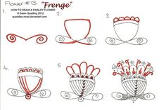 How to draw Paisley Flower 13  Frenge by Quaddles-Roost.deviantart.com on @deviantART