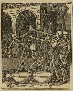 """The Bones of all men"" (woodcut,dance of Death)"