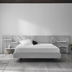 Kopfteil Für Doppelbetten / Modern / Lackiertes MDF / Mit Integriertem  Nachttisch PARS By Carlos Tiscar