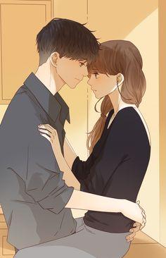 Anime Couples Drawings, Anime Couples Manga, Anime Guys, Manga Anime, Cute Couple Art, Anime Love Couple, Cartoon Pics, Cute Cartoon, Anime Love Story
