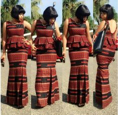 Ankara double layers peplum