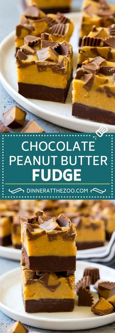 Ideas Chocolate Peanut Butter Fudge Recipe Sweet Treats For 2019 Chewy Chocolate Cookies, Chocolate Peanut Butter Fudge, Peanut Butter Desserts, Köstliche Desserts, Holiday Desserts, Chocolate Recipes, Delicious Desserts, Chocolate Chocolate, Fudge Recipes