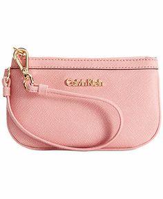 12aaf5fda8 Calvin Klein Saffiano Leather Wristlet - Calvin Klein - Handbags &  Accessories - Macy's Ck