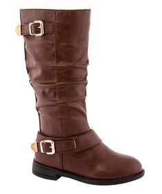 Look at this Brown Lina Boot on #zulily today!
