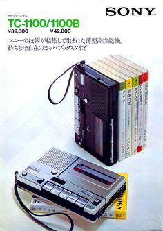 Cassette Recorder, Tape Recorder, Radios, Sony Electronics, Old Technology, Transistor Radio, Retro Advertising, Computer Network, Hifi Audio