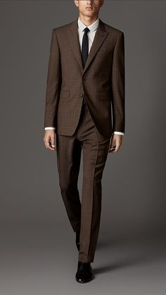 Burberry London Modern Fit Prince of Wales Check Wool Suit