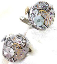 Isambard Rubies - cuff links  http://www.ipomenscarlet.com/steampunk-jewellery-and-cufflinks