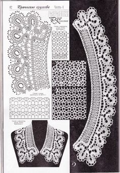 "Photo from album ""Брюгге"" on Yandex. Filet Crochet, Crochet Yoke, Crochet Lace Edging, Crochet Diagram, Irish Crochet, Crochet Designs, Crochet Patterns, Crochet Lace Collar, Lace Tape"
