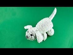 Perro de papel Tutorial del origami de la asamblea 3D - YouTube