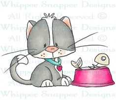 Oliver - Cats - Animals - Rubber Stamps - Shop