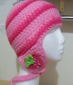 Cats-Rockin-Crochet Fibre Artist.: Childs HDC Ear Flap Hat Pattern