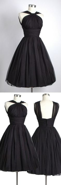 Black Homecoming Dress,Short Party Dress,Tulle Formal Dress,Ball Gown Prom Dress