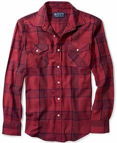 American Rag Shirt, Jones Flannel Long Sleeve Shirt