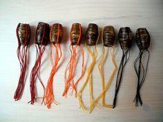 Rubinskaja handmade Paper Dread Beads #Dreadlocks #Dreadschmuck