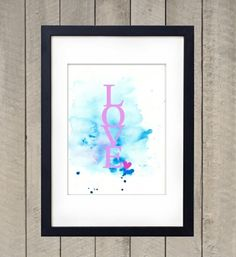 Love - Plakat (A4)