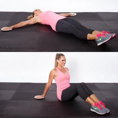 Sliding Pushup Jack - The Paper Plate Home Workout Routine - Shape Magazine