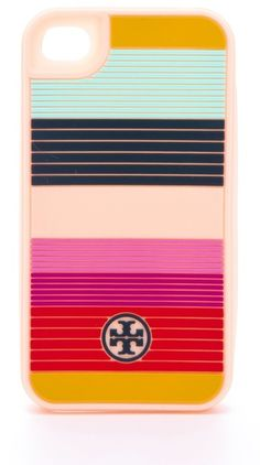 Tory Birch, Striped Silicone Iphone 4 Case