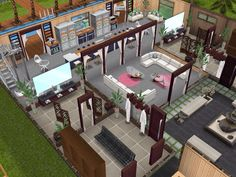 House 105 Wellness Centre ground level #sims #simsfreeplay #simshousedesign