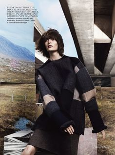 pull over coat ~ the grid: amanda murphy, sam rollinson and maria loks by craig mcdean for uk vogue september 2013