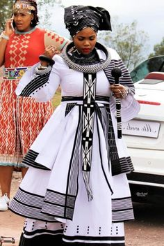 Ndixakiwe Modern Xhosa Traditional Dresses Latest Designs - Sunika Traditional African Clothes What Shweshwe Dresses, African Maxi Dresses, Latest African Fashion Dresses, African Dresses For Women, African Clothes, African Dress Designs, Modern African Dresses, South African Fashion, African Fashion Designers