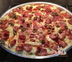 Receita de Pizza de liquidificador #receita #pizza #receitadeliquidificador