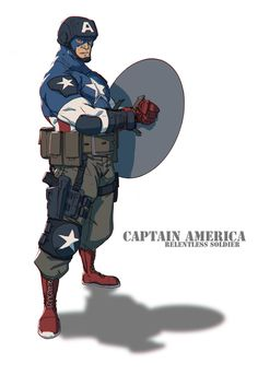 CaptainAmerica by Colorbind on deviantART