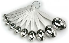 Paderno - 10 Pc Oval Measuring Spoon Set - 2176