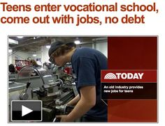 """""""People always make fun of vocational schools, but now they're like, 'Oh man, I wish I went there,'"""" said Adams, now a junior at Pathfinder Regional Vocational Technical High School, where every recent graduate found a job upon graduating."""