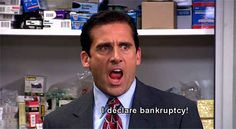 When Michael declared bankruptcy.