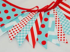 Red + aqua = the perfect circus theme color combo! #socialcircus