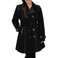 jcp   Excelled® Faux-Wool Belted Trench Coat