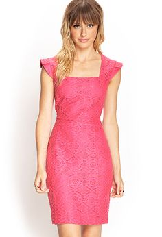 Pink Textured Lace Sheath Dress Only worn once for a few hours to an event! Gorgeous on and very forgiving! The lace helps to hide any imperfections Forever 21 Dresses Lace Sheath Dress, Bodycon Dress, Casual Work Outfits, Summer Outfits, Forever 21 Dresses, Fashion Tips, Fashion Design, Clothes For Women, Work Clothes