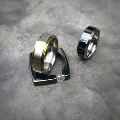 Ascent, Samurai and Ultima Black from Men's Collection #titanium #mensrings https://www.titaniumrings.com/collections/mens