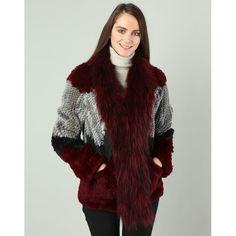 VESTE EN LAPIN OAKWOOD TRICOLORE, cliquez sur l'image pour shopper #bazarchic #mode #fashion #fur #luxe #luxury #fourrure #veste #coat #manteau #hiver #winter