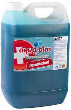 Aqua Plus detergent dezinfectant, dezincrustant pentru pardosele.