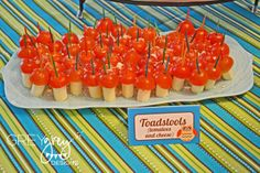 """Toadstools (string cheese and cherry tomatoes)  Photo 1 of 28: Woodland Forest / Baby Shower/Sip & See """"Woodland Forest Baby Shower"""" 