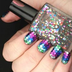 Disco Nails Art Halloween Tutorial: http://bit.ly/1jSt4aw #halloween2015 #nailart