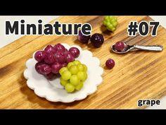 미니어쳐 토핑 만들기 #07 포도 - Miniature topping series - YouTube