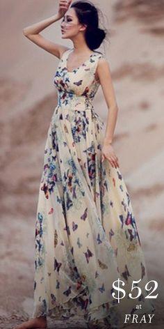 Formal Dresses Long Elegant, Casual Dresses, Fashion Dresses, Summer Dresses, Dress Formal, Dresses Dresses, Chiffon Maxi Dress, Print Chiffon, Groom Dress