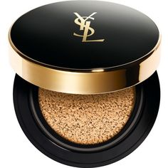 Yves Saint Laurent Fusion Ink Cushion Foundation found on Polyvore featuring beauty products, makeup, face makeup, foundation, beauty, yves saint laurent, yves saint laurent foundation and spf foundation